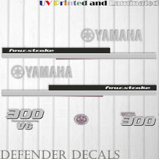 Yamaha 300 HP Four Stroke Outboard Engine Decal Sticker Kit reproduction V6