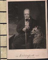 C1850 Vittoriano Stampa ~ Sir Walter Scott