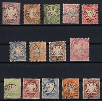 P135611/ BAYERN, OLD GERMANY – YEARS 1874 - 1900 USED CLASSIC LOT – CV 170 $