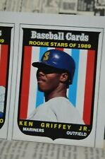 1989 Ken Griffey Jr Rookie Insert Card Baseball Cards Magazine October UNCUT SCD