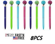 8 pcs Colorful Pens with Big Ball Diamond/Crystal/Jewel/Gem-Wedding Pen