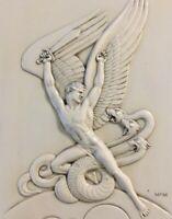 Michael the Archangel vs. Satan - Art Deco Machine Age True Canvas Print
