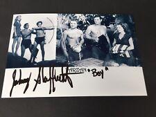 Johnny Sheffield († 2010) Tarzán 'Boy' signed foto 9,5 x 15 autógrafo
