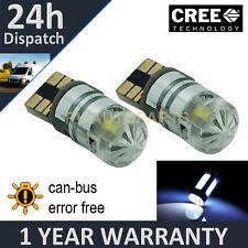2x W5w T10 501 Canbus Error Free Blanco Cree Led matrícula bombillas np103002