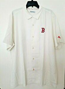 Tommy Bahama MLB 2018 World Series Champion Boston Red Sox Men's Silk Shirt XXL