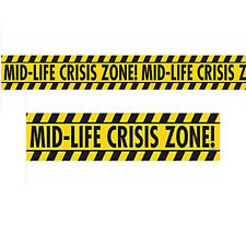 OVER THE HILL Midlife Crisis NOVELTY CAUTION TAPE ~ Birthday Party Supplies