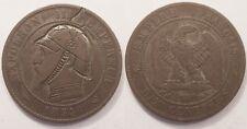 10 Centimes Napoléon III Satirique, 1854 W, Rare !!