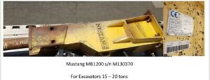 MUSTANG HYDRAULIC HAMMER MB1200 For Excavators 15 – 20 tons