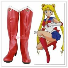 Hot Japanese Anime Sailor Moon Red Girls Cosplay shoes boots Custome Customized