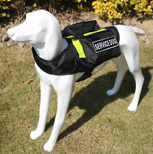 Medium Large Dogs Backpack SERVICE DOG Harness Vest w/ Side Bags + Patches