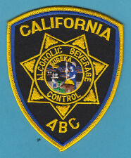 CALIFORNIA ALCOHOLIC BEVERAGE CONTROL ABC ALCOHOL  POLICE SHOULDER PATCH