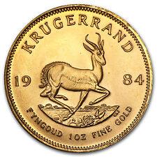 1984 South Africa 1 oz Gold Krugerrand - SKU #88673
