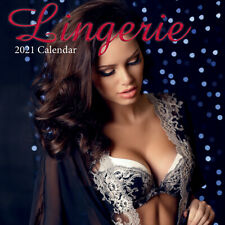 Lingerie 2021 Premium Square Wall Calendar 16Month New Year Christmas Decor Gift