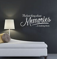 ~ Memories ~ Removable Wall Quote Decal Mural DIY Vinyl Art Sticker Home Decor