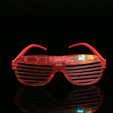 UK Halloween Shutter Shades LED Light Up Flashing Blink Glow Glasses Sunglasses