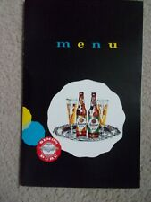 Vintage Simon Pure Beer Menu Cover free shipping