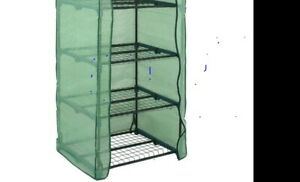 USED Garden Plants 4 Tier Mini Green  House  Portable For Indoor Outdoor