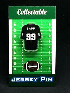 Oakland/Las Vegas Raiders Warren Sapp jersey lapel pin-Classic Collectible