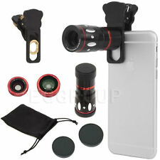 4 in 1 10X Zoom Telephoto Fish Eye+Wide Angle+Micro Clip Lens For Cell Phone HOT
