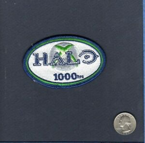 1000 HOURS HALO 1 2 3 COMBAT VIDEO GAME Squadron Hat Jacket Gaming Swag Patch