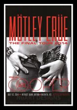 """Framed Vintage Style Rock 'n' Roll Poster """"MOTLEY CRUE - THE FINAL TOUR""""; 12x18"""