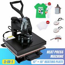 5 In 1 Heat Press Machine Swing Away Digital Sublimation T Shirt Mugplate Hat