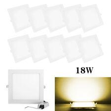 1/4/10pcs 18W Retrofit Square Led Recessed Ceiling Down Light Silm Lamp Fixture