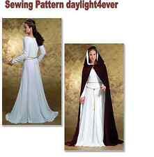 Women Renaissance Medieval Dress Cloak Sewing Pattern 4377 Costume New 14-20 #i
