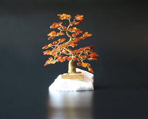 Glücksbaum Glücksbäumchen aus Bernstein Bernsteinbaum IV 16 cm Handmade