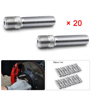 20pcs 58mm 14x1.25 to 12x1.5 Rim Wheel Conversion Converter Adapter Bolts Studs