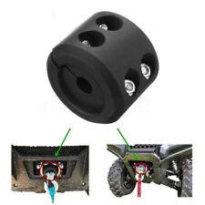 Black ATV Winches Cable Hook Stopper Set Rubber Cushion UTV