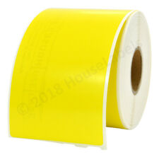 """2 Rolls 30323 YELLOW Dymo Compatible Shipping Labels 240 Lbl Per Roll 2-1/8""""x 4"""""""
