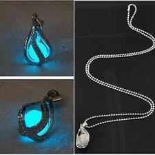 Luminous Glow In Dark Pendant Necklace The Little Mermaid's Teardrop Jewelry
