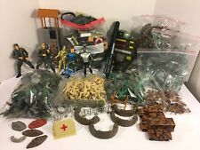 Huge Lot Mixed Plastic Army Men Military Toys Accessories Vehicles Playsets