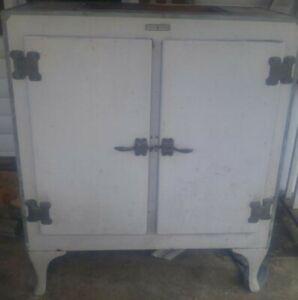 RARE Antique 1920's GE Monitor Top 2-Door Refrigerator