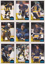 1987-88 OPC St. Louis Blues team set NM-MT to Mint razor sharp Gilmour