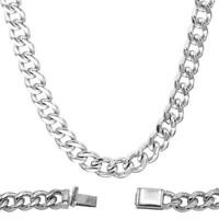 """Cuban Link Curb Necklace Stainless Steel Chain Fashion Jewelry for Men 28"""" Long"""