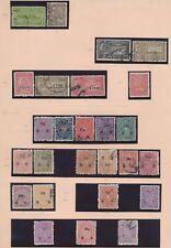 XC14724 India Travancore service stamps fine lot used