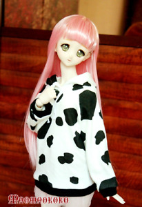 1/6 1/4 1/3 BJD Outfit Doll Clothes White+Black Dairy Cows Hoodie Top Sweater