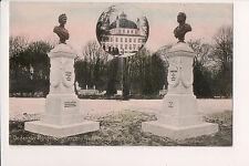 Vintage Postcard Fredensborg Palace Statue King Christian X Queen Louise Denmark