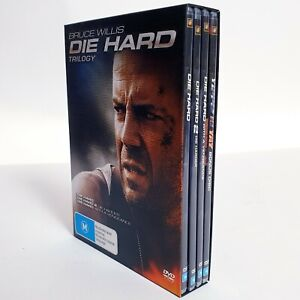 The Die Hard Trilogy 3 x Movies DVD Region 4 AUS Free Postage Bruce Willis