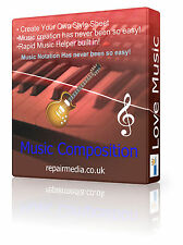 Music Composition Notation Rhythm Melody Editing Software DVD Windows