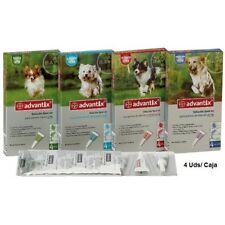 4 pipetas Antiparásitos Advantix Bayer 25kg