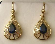 Sapphire Lab-Created/Cultured Fine Earrings