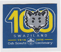 100 YEARS OF WOLF CUB SCOUTS CENTENARY - SWAZILAND CUB SCOUT 2016 SOUVENIR PATCH