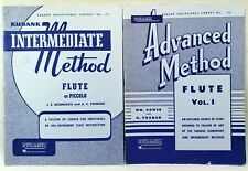 Rubank Flute Instrument Instruction Books Lot Of 2 Intermediate & Advanced