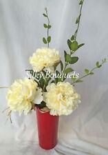 Peony Faux Silk Arrangements, Centerpieces&Swags Flowers