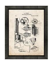 Mason Revolving Firearm Patent Print Old Look in a Beveled Black Wood Frame