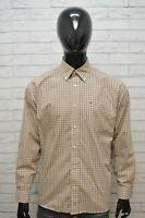 Camicia Uomo TOMMY HILFIGER Taglia XL Maglia Polo Cotone Shirt Hemd Quadri