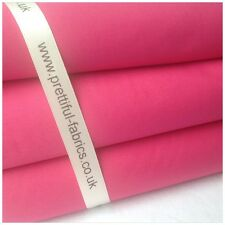 100% Cotton Fabric Sheeting Plain Solid Colours Choose 1m, 1/2m & Fat Quarters